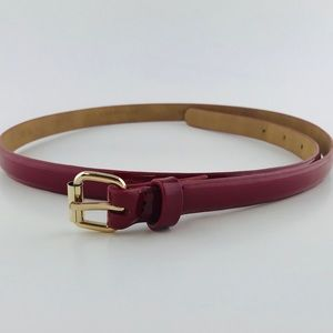 Ann Taylor patent leather red belt small